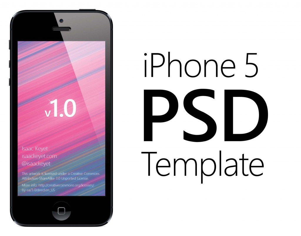 iPhone 5 Device PSD Template