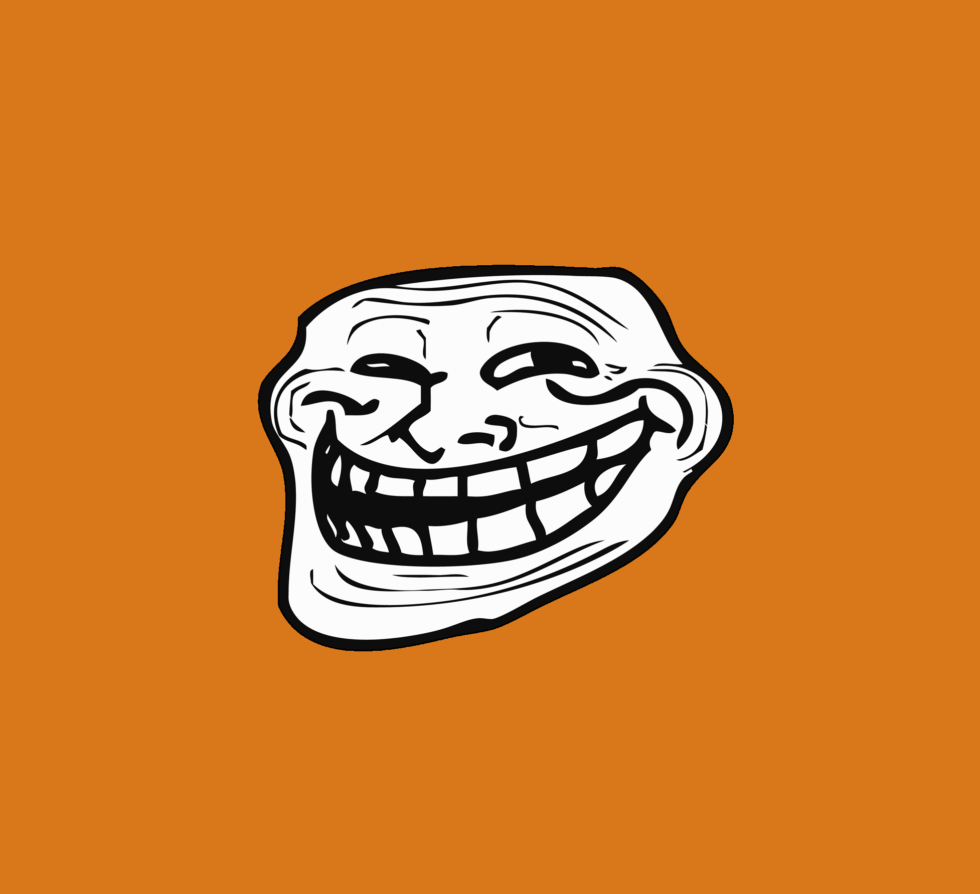 Orange Troll Face